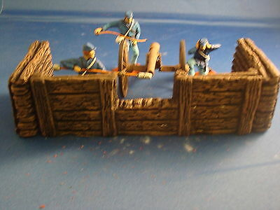 U11 UNPAINTED 1.32 scale WOOD AND LOG FENCING FOR CANNON CREW NAPOLEONIC ECT