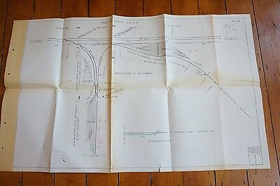 1973 Trent to Tapton Railway Track Plan Westhoses Blackwell