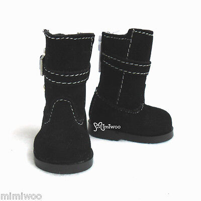 Mimi Collection Yo-SD 1/6 bjd Dollfie Leeke Doll Shoes Velvet Buckle Boots BLACK