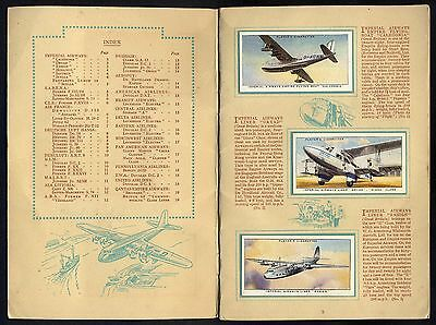 "1936  Players  ""international  Air  Liners""  Complete  Set  (50)  In  Album."