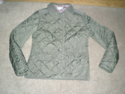 Girls Khaki Green Quilted Jacket - Size XXS - From Marks and Spencer