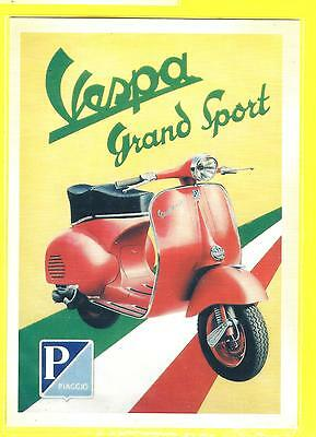 Vespa Grand Sport Italian Motor Scooter  Postcard !  Free Shipping