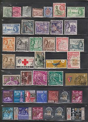 Malta Used Lot With All Eras - Some With Minor Faults