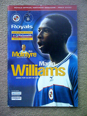 Reading v Notts County - Nationwide League Division 2 1999/00 Programme