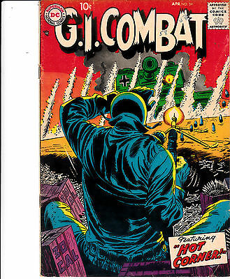 G.I. COMBAT #59 (DC, April 1958) F-/F ** HARD TO FIND **