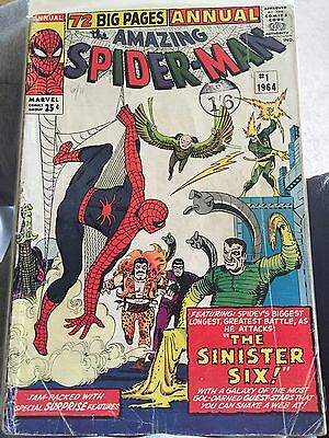 Amazing Spiderman Issue 1 1964 Annual Marvel Comics