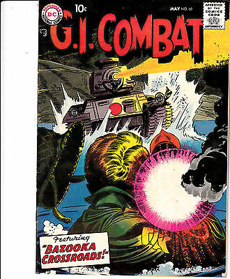 G.I. COMBAT #60 (DC,  May 1958) F+/VF- ** HARD TO FIND **