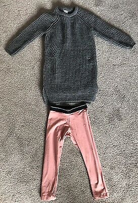 NEXT Girls Thick Winter Jumper And Leggings Set Age 3-4