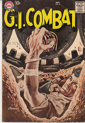 G.I. COMBAT #76 (DC, Sep 1959) F/F+ * Gray-tone cover * Hard to Find *