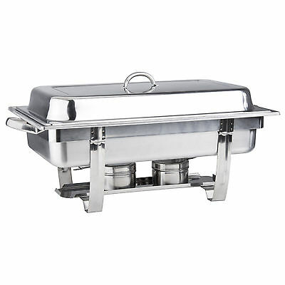 Choice Full Size 8 Qt. Stackable Stainless Steel Chafing Dishes Catering