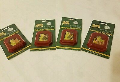 Pocket dragons set of 4 classic broches NIB