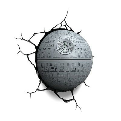 Death Star 3D Deco Light (Star Wars) by 3D Light FX Brand New