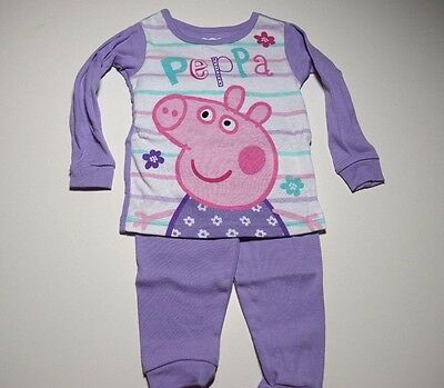 New Peppa Pig pajamas girls Toddler size 12M 18M 2T 3T 4T 5T
