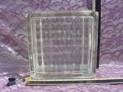 "Vintage Thick Glass 7.75""x7.75""x3.75"" Block Hutchinson KS Building Circa 1920s"
