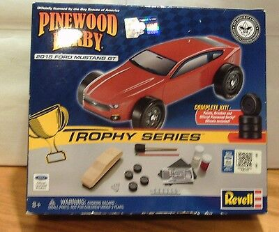 Pinewood Derby 2015 Ford Mustang Gt Trophy Series Complete Kit New