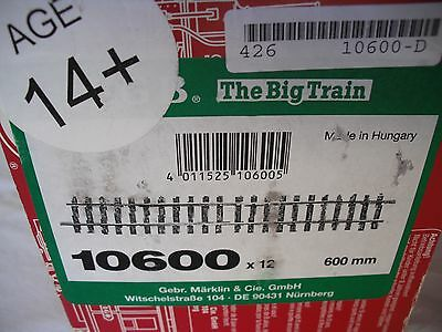 "Lot of 12 LGB 10600 Brass 600 mm 2' 2ft 24"" Straight Track Sections, G Scale"