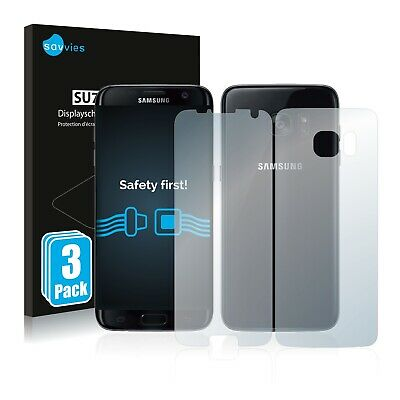 6x Savvies Screen Protector for Samsung Galaxy S7 Edge (Front + Back) Ultra