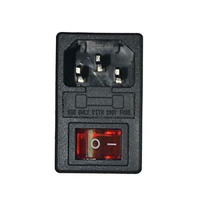 HONGYETAJA Inlet Male Power Socket with Fuse Switch 10A 250V 3 Pin IEC320 C14