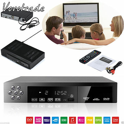 EU/UK Full HD 1080P DVB-T2+S2 Video Broadcasting Satellite Receiver Box TV