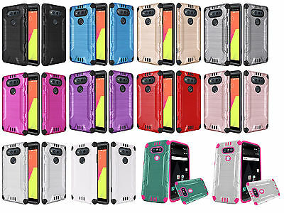 Combat Dual Hybrid Protector Case Phone Cover for LG V20