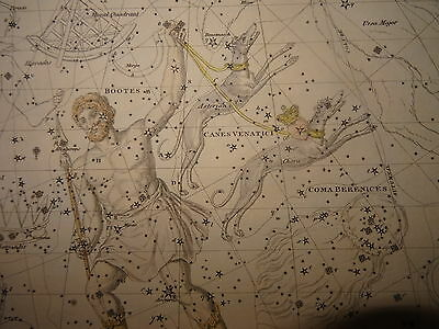 Engraving Astronomy Bootes Astrology Space Sun Mathematics Science Moon 1820
