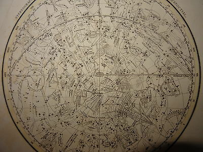Engraving Astronomy Astrology Space Stereographic Mathematics Science 1820