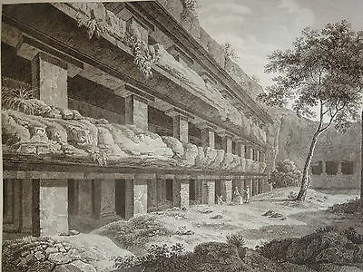William DANIELL ENGRAVING PALACE TYN-TALI SECHA TAMIL NABU INDIA HINDOUSTAN 1820