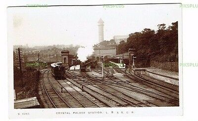 Old Postcard Crystal Palace Railway Station London Whs Kingsway Real Photo C1905