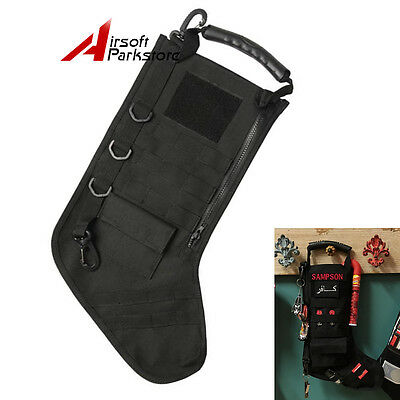 Tactical Christmas Stocking with MOLLE Attachment Gear in Black Free Shipping