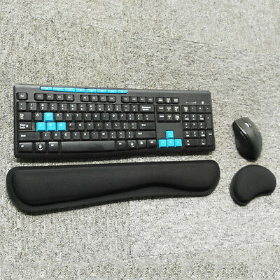 Ergonomic Keyboard Wrist Rest Pad Mouse Wrist Rest Mat for Computer Laptop Black