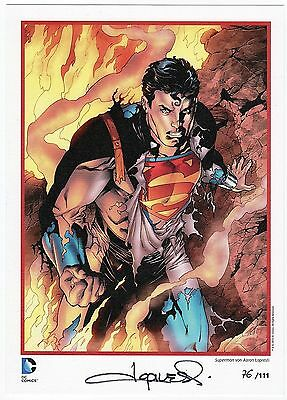 SUPERMAN - AARON LOPRESTI - Limited Edition Print #/111 - SIGNED /SIGNIERT DC