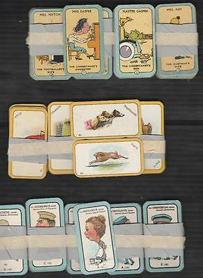 3 Full Sets Happy Family - Greyhound & Nose Game  Cigarette Cards By Carreras