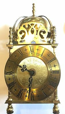 Very Large Lantern Clock In Solid Brass With A Battery Movement LONDON CLOCK CO