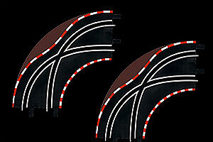 61655 CARRERA LANECHANGE CURVE 1/90 (2) for GO!!! SLOT CAR SYSTEM 1/43 SCALE