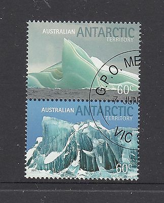 AAT 2011 Icebergs Canceled to order pair sheet stamps