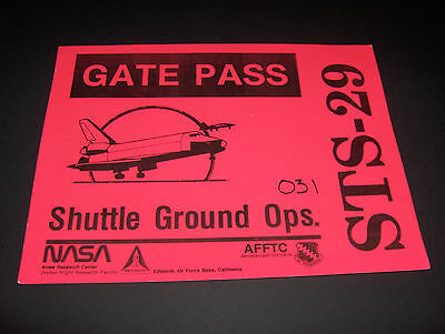 Nasa Gate Pass Space Mission Sts-29 Shuttle Project Orbiter Raumfähre Astronaut