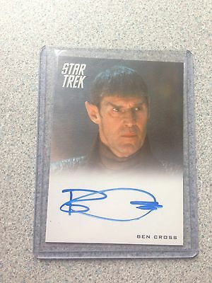 Star Trek Movie autographed Trading Card Ben Cross Mint Signed And Protected