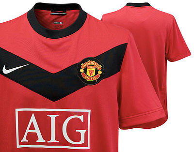 Large Manchester United Official Nike 2009-2010 Home Shirt