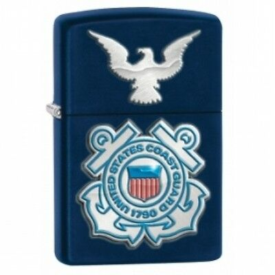 Zippo USCG Seal & Eagle Navy Blue Matte Windproof Lighter Brand New