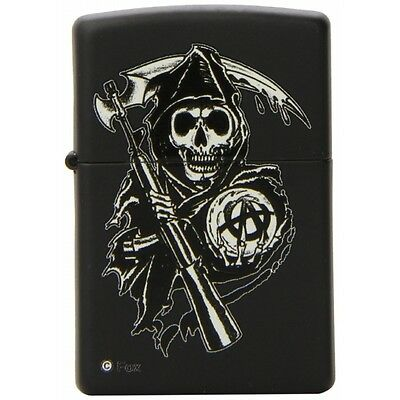 Zippo Sons of Anarchy Reaper Windproof Pocket Lighter Black Matte Brand New