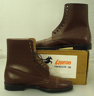 Loveson Laced Paddock boot - Adult Short Riding Boots - Leather Uppers