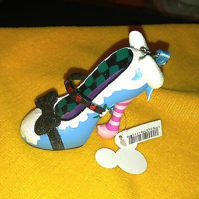 Disney Parks Authentic Alice in Wonderland Runway Shoe Ornament Christmas New