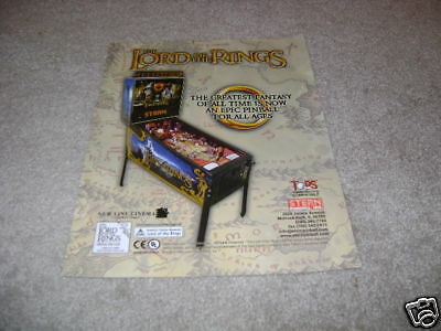 STERN pinball flyer LORD OF THE RINGS