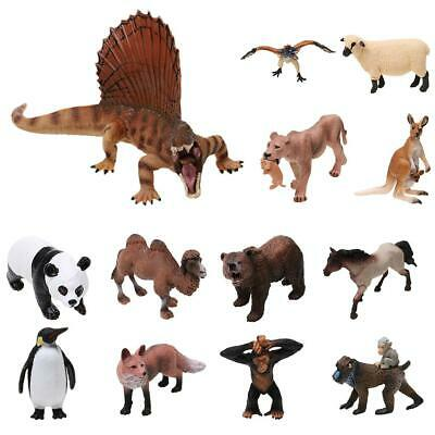 Realistic Wildlife/Zoo/Farm Animal Dinosaur Model Figures Kids Toys Collections