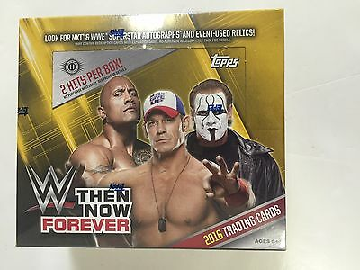2016 Topps Wwe Then Now Forever Hobby Box ( 2 Hits Per Box )