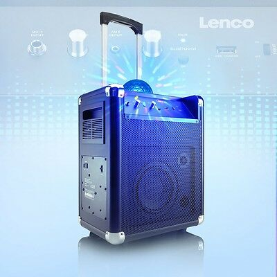 PA Lautsprecher Bluetooth Party Licht Sound System USB Mikrofon Disco Kugel AUX