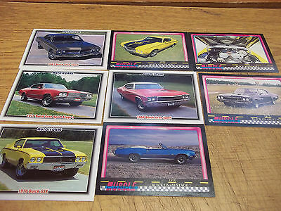 Buick Musclecars collectible card lot of 8