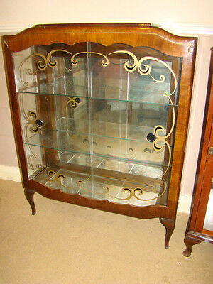 Beautiful Retro Vintage Large Double Front Ornament Display Cabinet