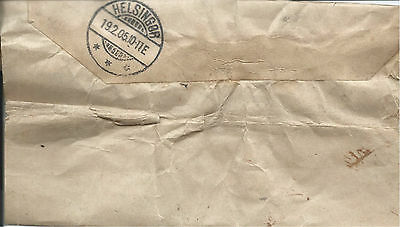 GB 1905 1/2d Green Daily Mail Newspaper Wrapper with NPB Cancel to Denmark