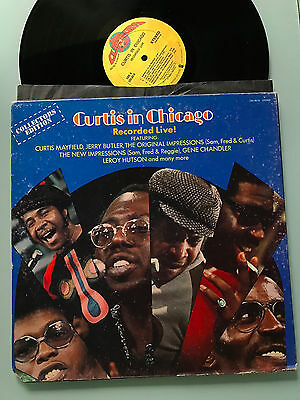 LP USA 1973  Curtis Mayfield ‎– Curtis In Chicago - Recorded Live